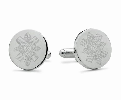 Black Watch Engraved Cufflinks