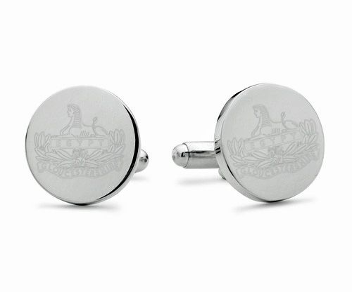 Gloucestershire Regiment Engraved Cufflinks