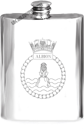 HMS Albion Pewter Hip Flask