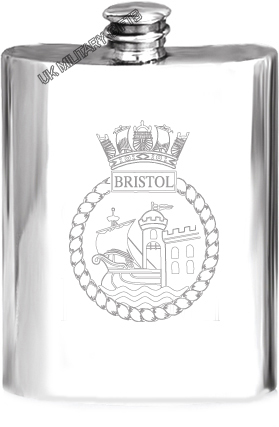 HMS Bristol Pewter Hip Flask