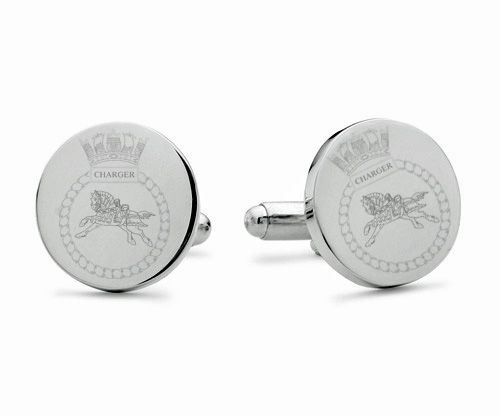 HMS Charger Engraved Cufflinks