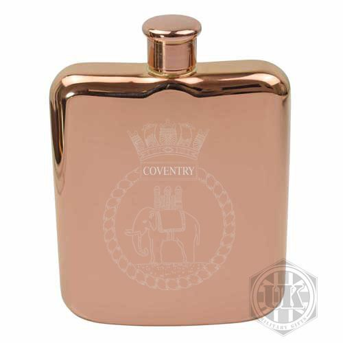 HMS Coventry Steel Hip Flask