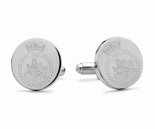 HMS Fife Engraved Cufflinks