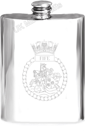 HMS Fife Pewter Hip Flask