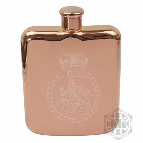 HMS Fife Steel Hip Flask