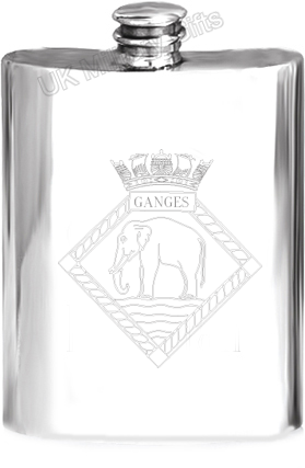 HMS Ganges Pewter Hip Flask