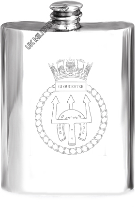 HMS Gloucester Pewter Hip Flask