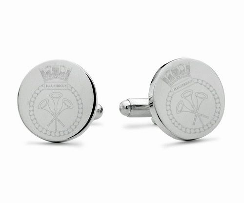 HMS Illustrious Engraved Cufflinks