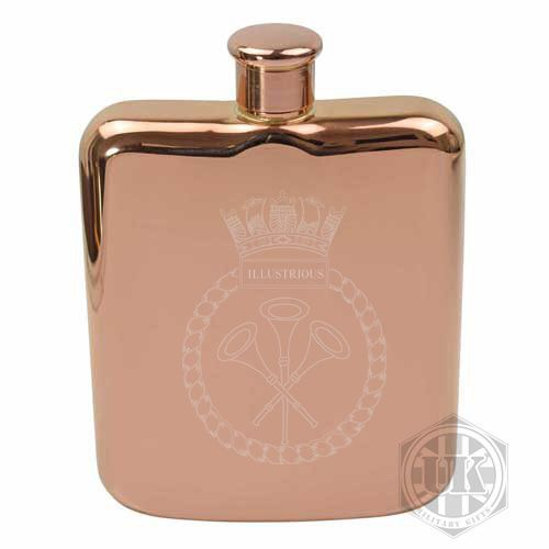 HMS Ilustrious Steel Hip Flask