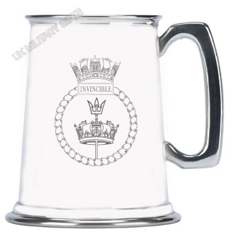 HMS Invincible Pewter Tankard