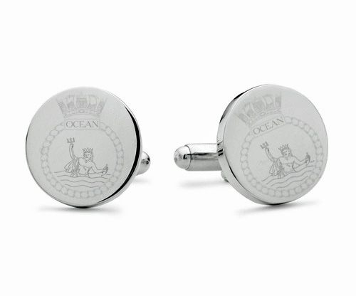 HMS Ocean Engraved Cufflinks