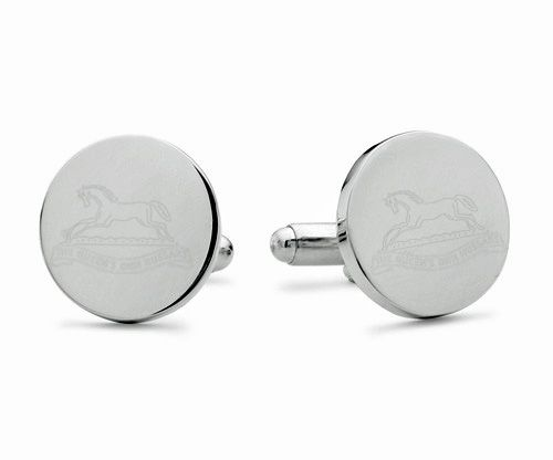 Queen's Own Hussars Engraved Cufflinks