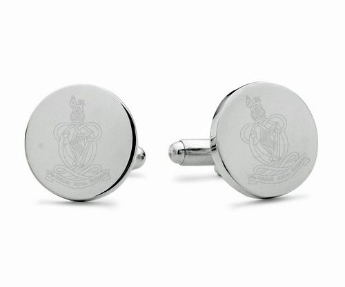 Queen's Royal Hussars Engraved Cufflinks