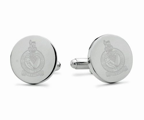 Queen's Royal Irish Hussars Engraved Cufflinks