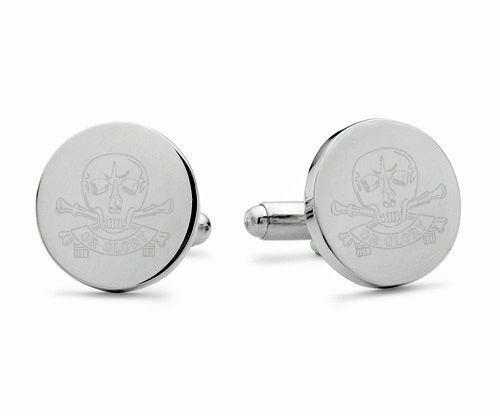 Queen's Royal Lancers Engraved Cufflinks