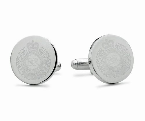 Royal Engineers Engraved Cufflinks