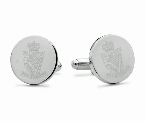 Royal Irish Rangers Engraved Cufflinks