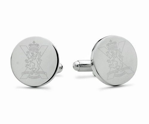 Royal Regiment of Scotland Engraved Cufflinks