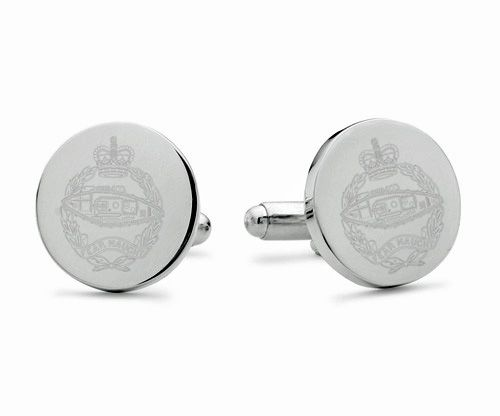 Royal Tank Regiment Engraved Cufflinks